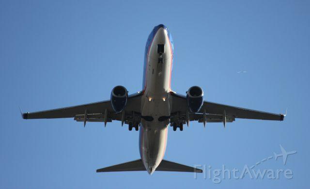 Boeing 737-800 — - Madien Flight to Joplin, MO. for Bull Head City. Final for RWY-36.