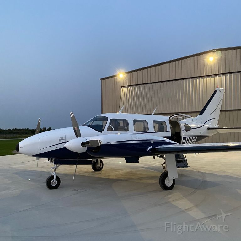 Piper Navajo (C-GGBI) - Piper Navajo PA31-310 on the ramp for an early morning departure from London Ontario 2020