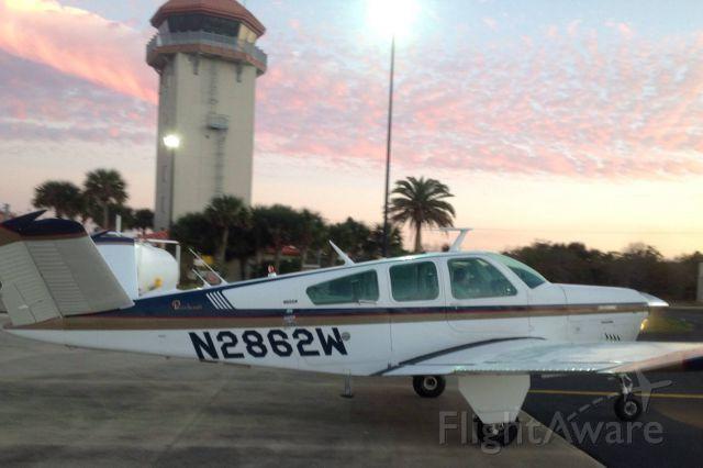 Beechcraft 35 Bonanza (N2862W) - First solo flight in 1973 V35B Bonanza - William Kent at St. Augustine, Florida February 3, 2014