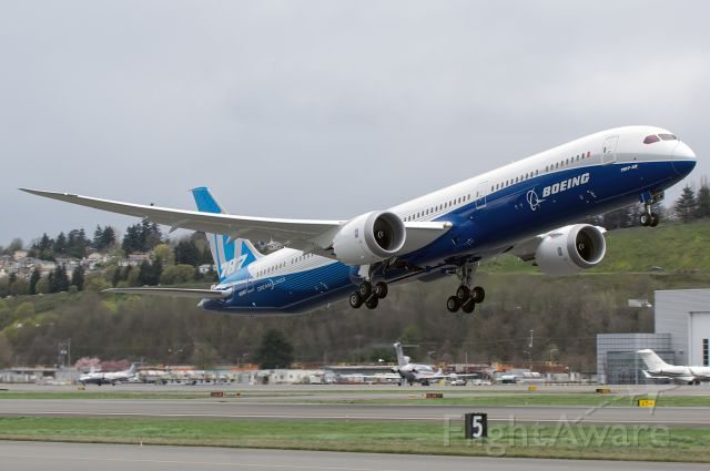 BOEING 787-10 Dreamliner (N528ZC) - The First 787-10 rotating out of BFI for her first PNW Test flight!