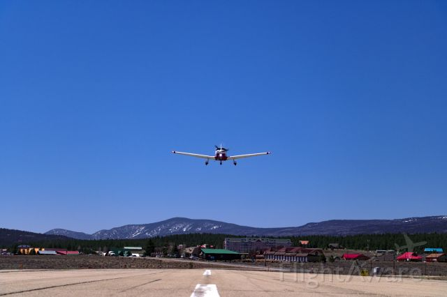 Piper Saratoga (N624DP) - Piper Saratoga N624DP on a low approach for runway 35 in Angel Fire, New Mexico (KAXX)