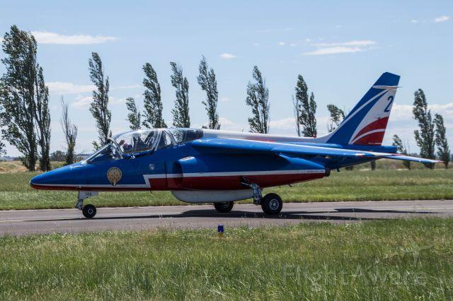 DASSAULT-BREGUET/DORNIER Alpha Jet (F-UHRR) - Photo prise lors du roulage d'un Alphajet E de la Patrouille de France à Orange.