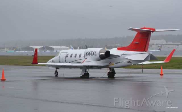 Learjet 31 (N165AL) - N165AL of Aero Air Llc. Seen from the rear of the plane by the FBO