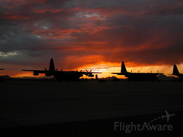 — — - HC-130P of the 79th RQS on the ramp at Davis Monthan.br /Arizona sunsets, what can I say?!?