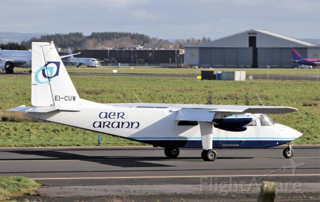 ROMAERO Islander (EI-CUW) - aer arann ei-cuw arriving in shannon 22/2/21.