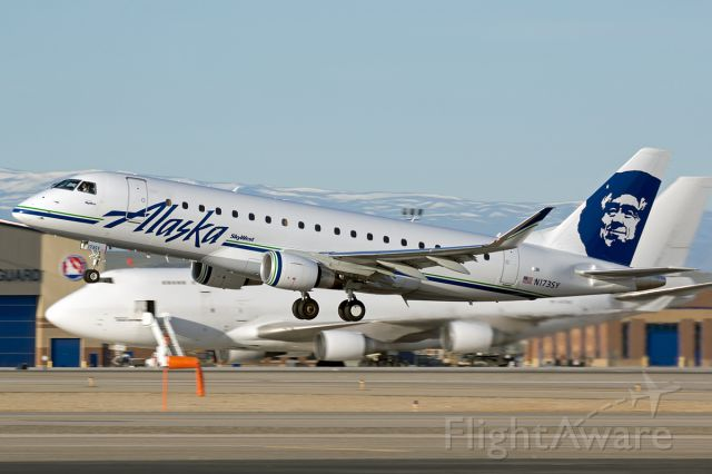 """Embraer 170/175 (N173SY) - Skywest/Alaska E175 departing BOI with the Queen in the background. Full Photo: <a rel=""""nofollow"""" href=""""http://www.airliners.net/photo/Alaska-Airlines-SkyWest/Embraer-175LR-ERJ-170-200LR"""">http://www.airliners.net/photo/Alaska-Airlines-SkyWest/Embraer-175LR-ERJ-170-200LR</a>)/2808519/L/&sid=a26dc422aae7696d6ae8404f2367a6de"""