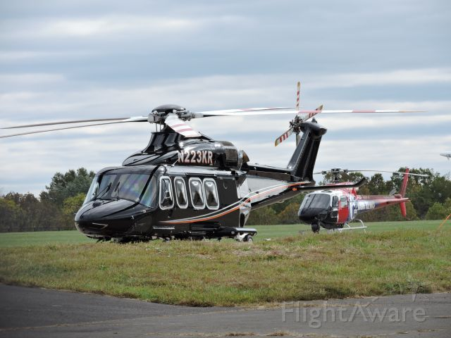 BELL-AGUSTA AB-139 (N223KR) - This is a 2013 Agusta Westland and behind it is an ABC TV helo, fall 2019.