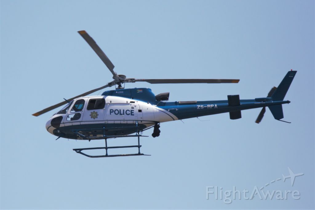 Eurocopter AS-350 AStar (ZS-RPA) - Eurocopter AS 350B3 Ecureuil of the South African Police Services (SAPS)