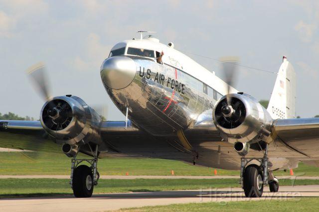 Douglas DC-3 (N47E) - C-47/ DC-3 Show at Oshkosh 2019- Miss Virginia