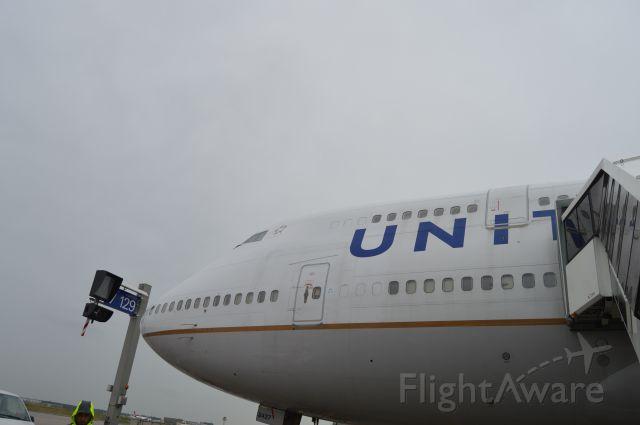 Boeing 747-400 — - Remote deplaning at Frankfurt