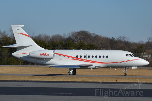 Dassault Falcon 2000 (N10EU) - BANK OF UTAH TRUSTEE (Ingersoll Rand) at KJQF - 2/8/18