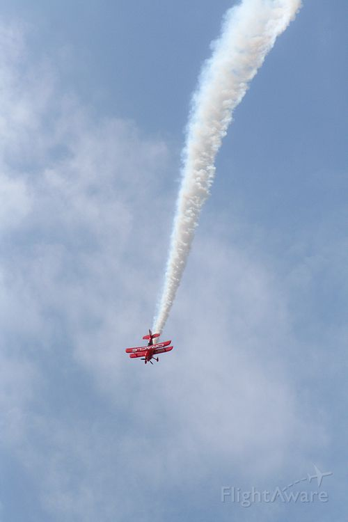 PITTS Special (S-2) (N260SP) - Sean Tucker of the Oracle Challenger II performs at Wheeler Downtown Airport in Kansas City, Missouri