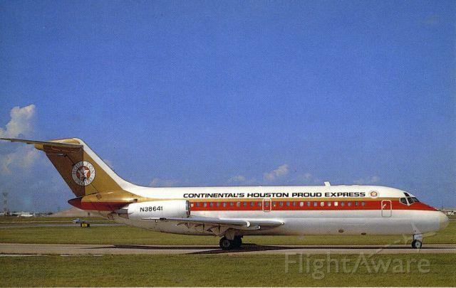 Douglas DC-9-10 (N38641) - 1967 Douglas DC-9-14 scanned from postcard
