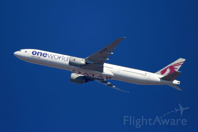 BOEING 777-300ER (A7-BAF) - Inflight, climbing out of FAOR, on the Return to DOHA, going past my home.