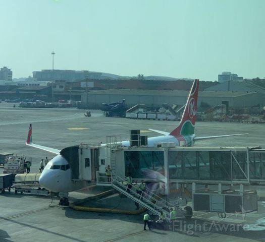 Boeing 737-800 — - Off as KQA211 to Nairobi, Kenya