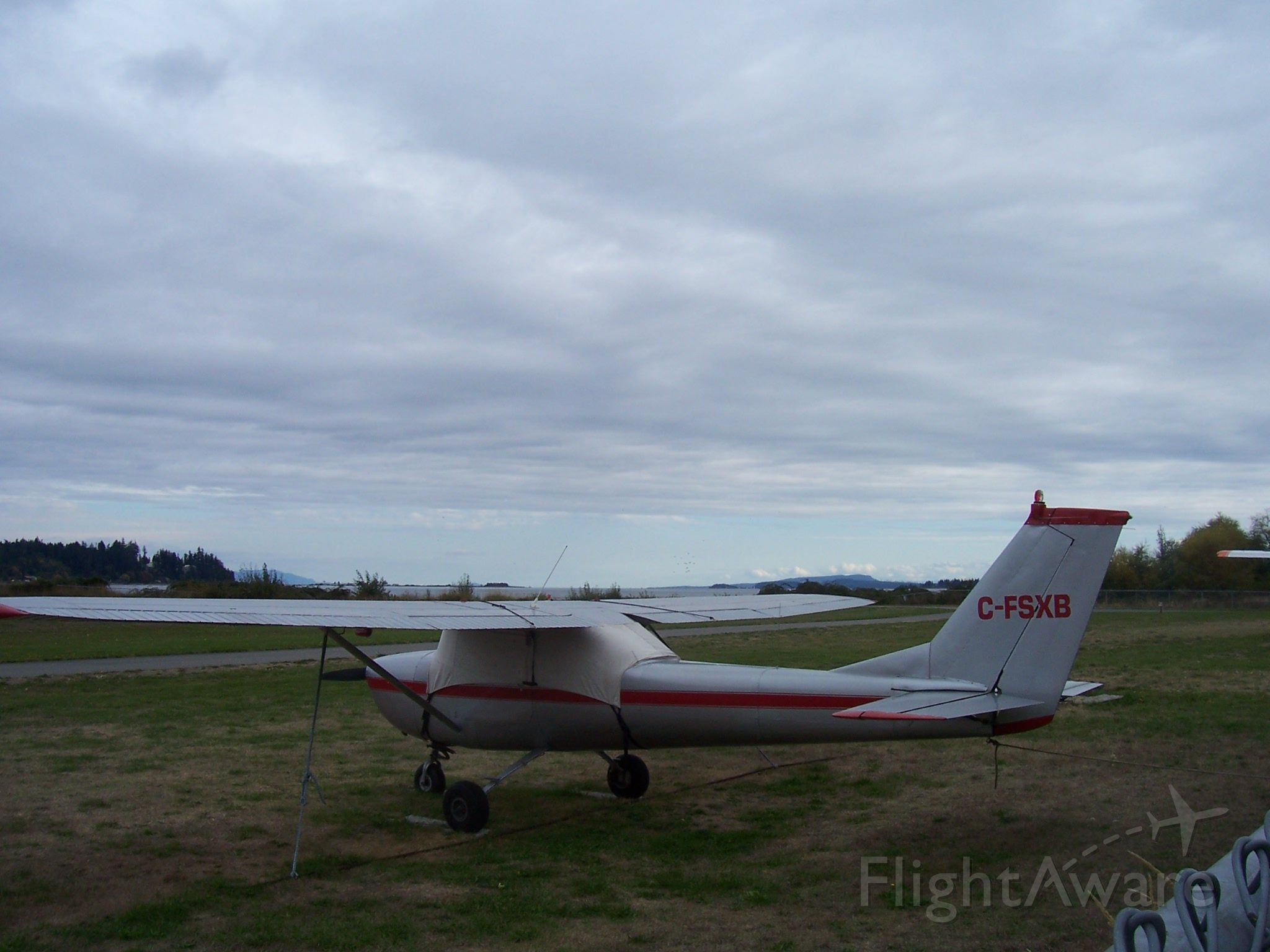"""C-FSXB — - """"waiting for the weather""""  Courtenay Airpark, BC"""