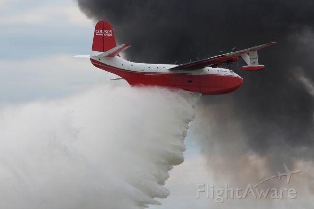 MARTIN Mars (C-FLYL) - Martin Hawaii Mars Drops H2O on Runway 36 EAA Airventure 7-27-16