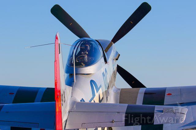 North American P-51 Mustang (N551J) - P-51 Mustang awaiting departure at sunrise.