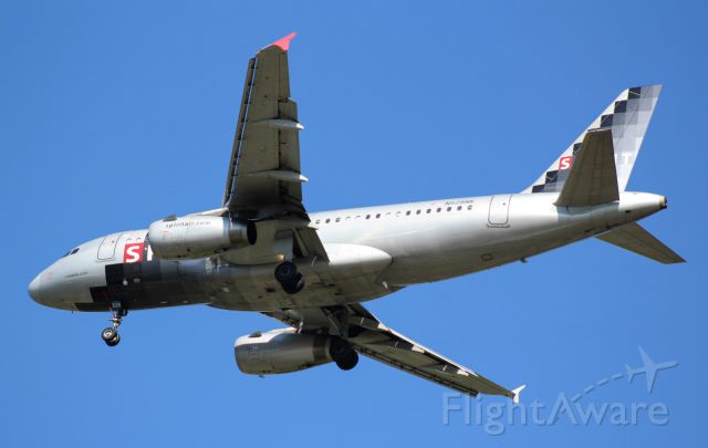 Airbus A319 (N528NK) - Spirit approaching runway 23.