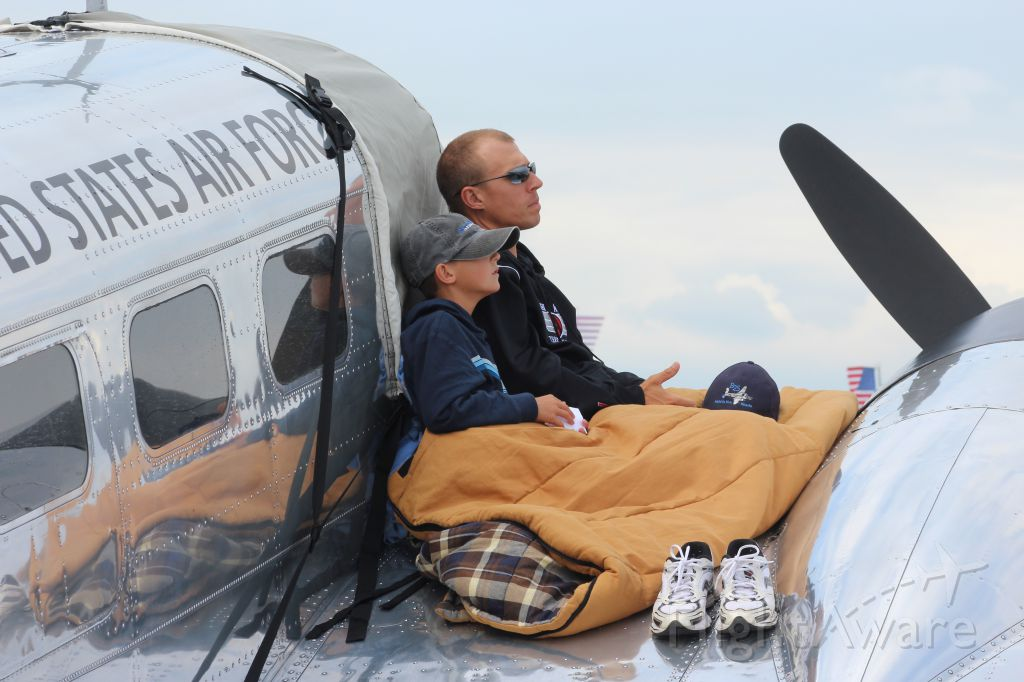 — — - Father & Son taking in the sights at EAA Air Venture 2016.......