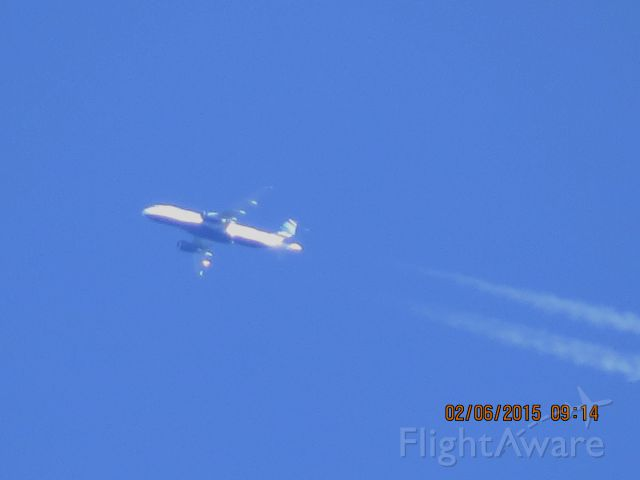 Airbus A320 (N804JB) - JetBlue Airlines flight 619 from BOS to SAN over Southeastern Kansas at 34,000 feet.