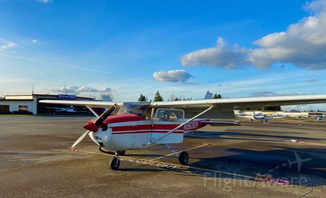 Cessna Skyhawk (N9690H) - Niner-Zero-Hotel at Spanaflight on a beautiful late-winter day.
