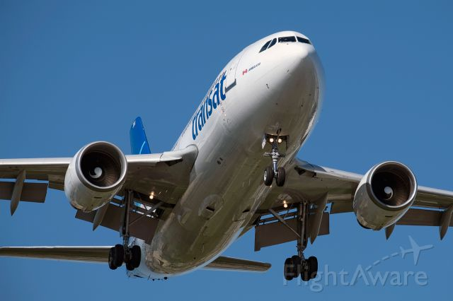 Airbus A310 (C-GSAT) - Air Transat A310 on short final into Toronto Pearson (YYZ).