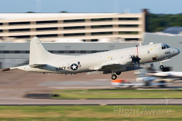 Lockheed P-3 Orion (16-1589) - 161589 departing Dallas Love Field last night for a night time sortie in parts south..