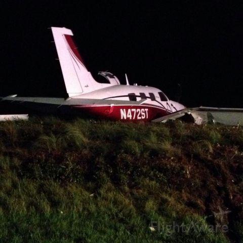 Piper Malibu Mirage (N472ST) - Overshot runway at Statesville Regional