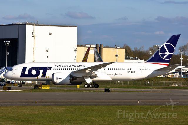 Boeing 787-8 (SP-LRD) - Being Towed