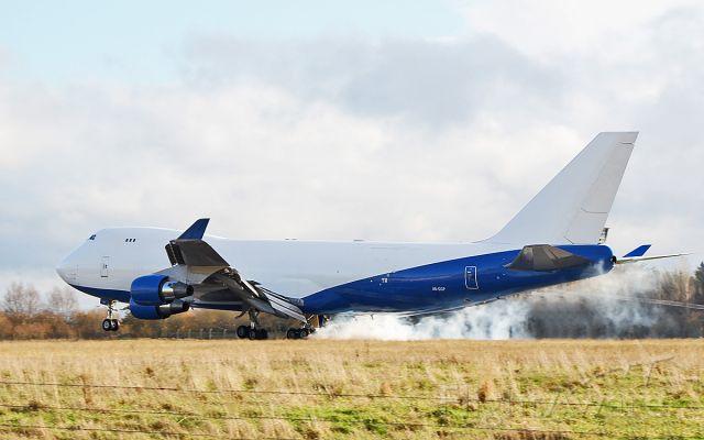 Boeing 747-400 (A6-GGP) - dubai air wing b747-412f a6-ggp landing at shannon 20/11/18.