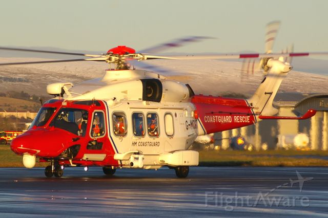AgustaWestland AW189 (G-MCGT) - Rescue 199 taxying out for departure