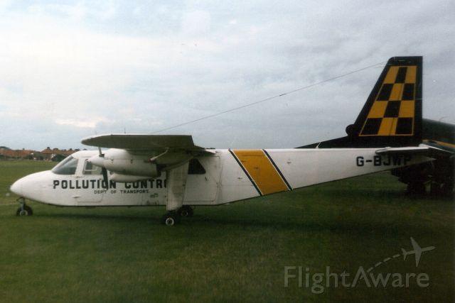 ROMAERO Islander (G-BJWP) - Seen here on 8-Oct-88.  Reregistered F-OGOV 21-Feb-90<br />then N60616 25-Sep-00.<br />Registration cancelled 22-Nov-02.