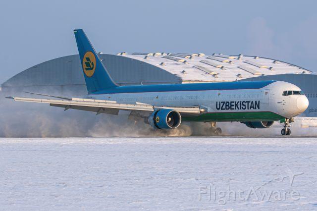 BOEING 767-300 (UK-67002) - Snow landing.
