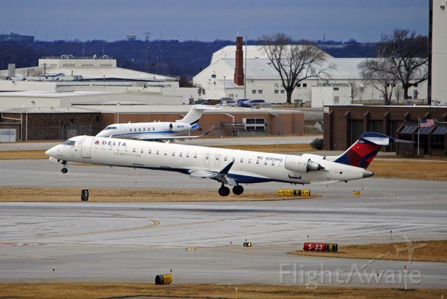Canadair Regional Jet CRJ-900 (N309PQ) - Arriving from Minneapolis on 12/29/2019.