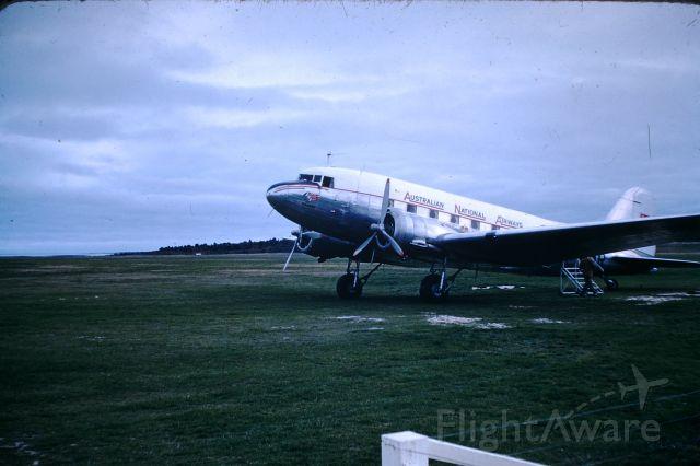 Douglas DC-3 (VH-ABR) - ANA DC3 VH-ABR Flinders Island circa 1955