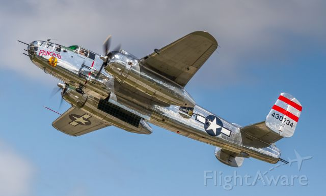 North American TB-25 Mitchell (N9079Z) - 'Panchito' flyby with the bomb bay open