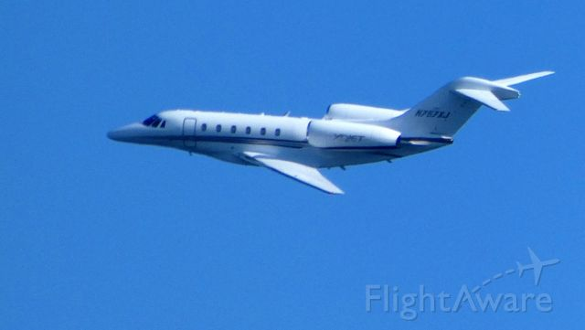 Cessna Citation X (N757XJ) - Shortly after departure in the distance is this 2006 Cessna Citation in the Spring of 2019.