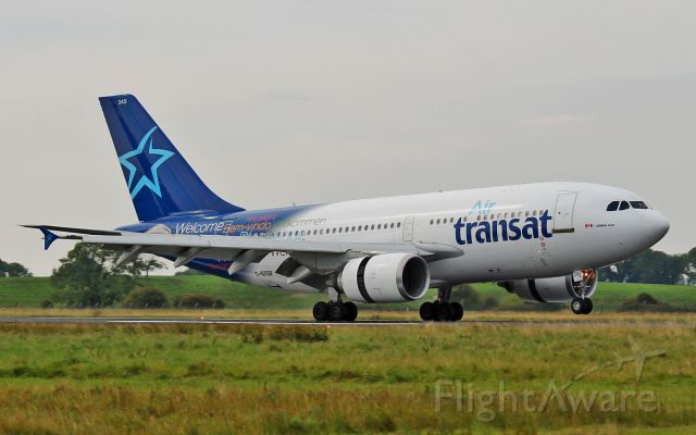 Airbus A310 (C-GTSF) - air transat a-310 c-gtsf  diverting to shannon for a fuel stop 8/9/14.