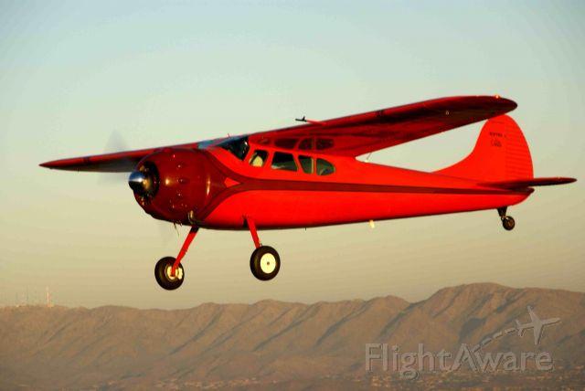 N1075D — - Cessna 195 over Maricopa, AZ