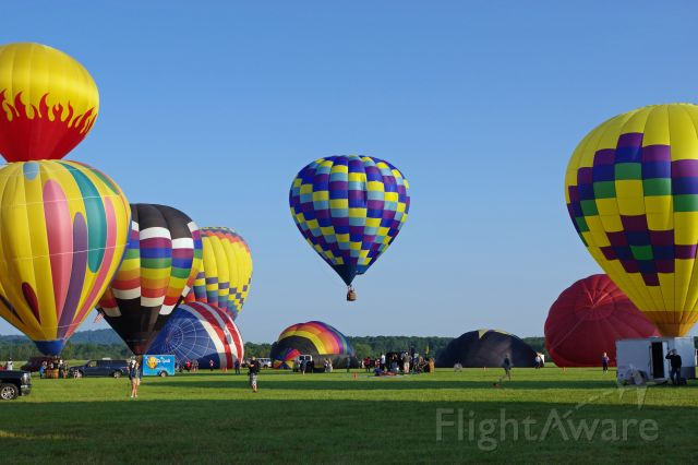 Unknown/Generic Balloon — - SOLBERG AIRPORT-READINGTON, NEW JERSEY, USA-JULY 24, 2021: Seen at the 2021 New Jersey Lottery Festival of Ballooning were these colorful hot air balloons.