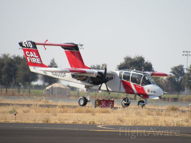 North American Rockwell OV-10 Bronco (N400DF) - OV-10 Bronco Landing at Porterville.