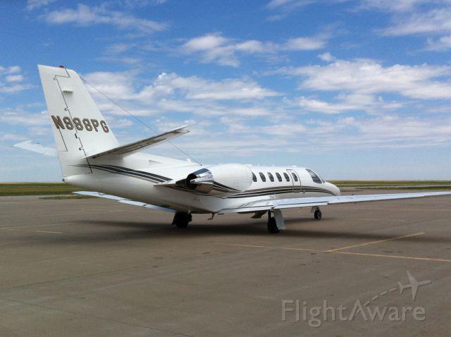Cessna Citation V (N988PG) - on the ramp in KGCK
