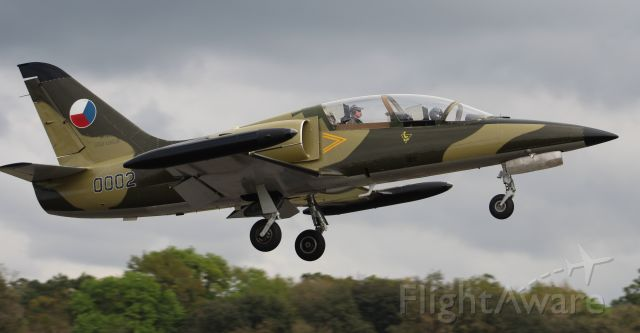 — — - An Aero Vodochody L-39MS Albatros departing Runway 19 at H.L. Sonny Callahan Airport, Fairhope, AL, during the 2019 Classic Jet Aircraft Association Fly-In and Conference - March 2, 2019.