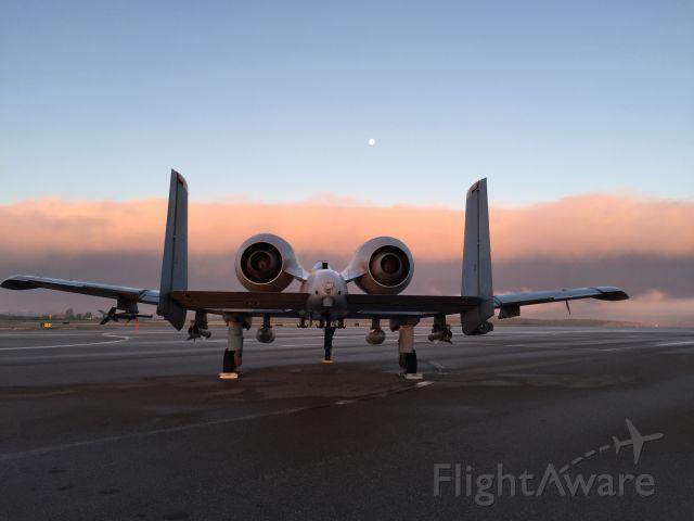 Fairchild-Republic Thunderbolt 2 — - A-10 early morning fog bank coming in
