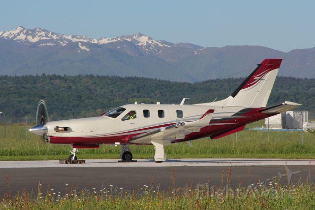 Daher-Socata TBM-900 (VH-LZJ) - Final checks compass rose