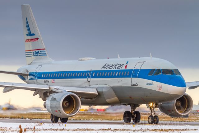 Airbus A319 (N744P) - Piedmont retro heads to the active