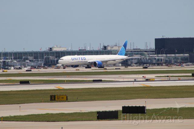 BOEING 777-300ER — - UAL2865 to Tokyo (NRT) on 7/31/20. Departed on runway 10L