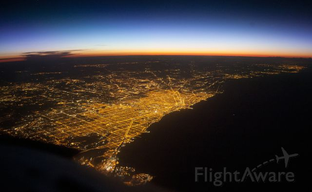 Cessna Citation V (N365EA) - Night photo from FL400!