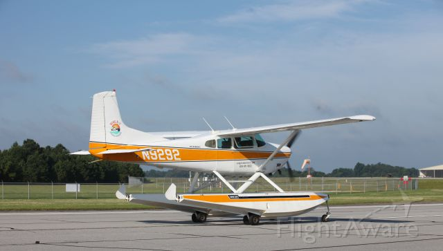 Cessna Skywagon (N9292) - 2017 Cracker Fly in at the Lee Gilmer Memorial Airport.  Cessna A185F Amphibian taxis past the crowd